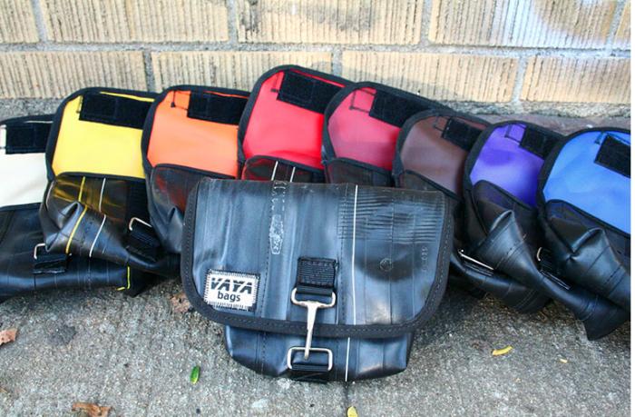 Recycled Bike Tube Hip Pouch Vaya Bags Handmade In Nyc
