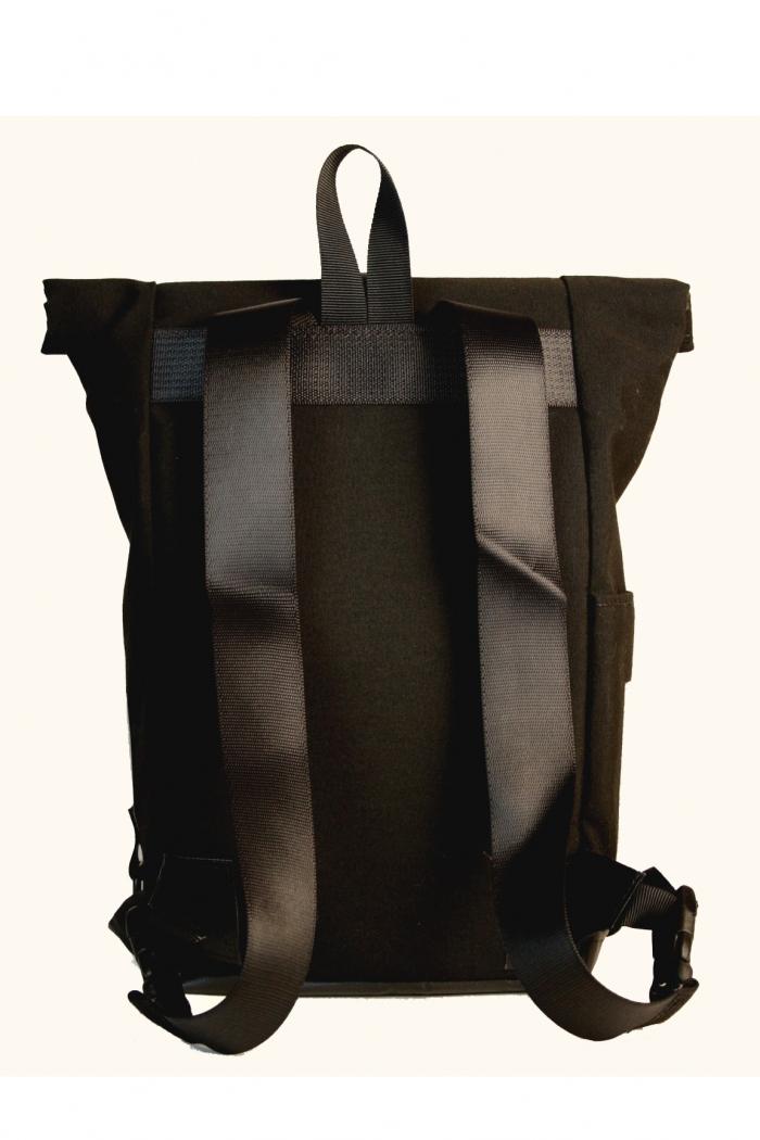 b112fb64d8ea ... Black Simple Rolltop Backpack Backpack ...