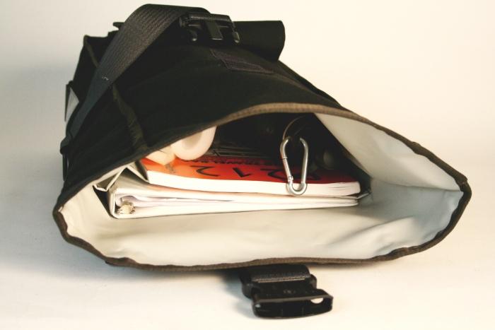 58ddf91758ff Black Simple Rolltop Backpack - Vaya Bags