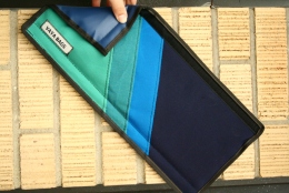 Teal and Blue Striped Top Tube Cover Accessory