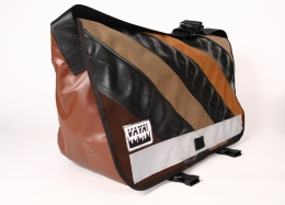 Caramel Standard Wide Messenger Bag