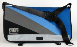 Stormy Blue Standard Wide Messenger Bag