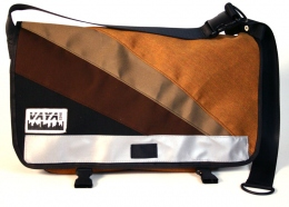 Brown sunburst Medi Messenger Bag