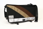 Black and Brown Striped Diaper Bag - MEDI