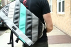 Hint Of Aqua Standard Wide Messenger Bag