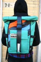 Aqua-Orange Blossom Pannier/ Backpack
