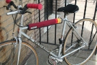 Vertical Striped Top Tube Cover Accessory