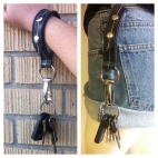 Bike Tube Keychain Wristlet