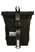 Black Simple Rolltop Backpack