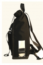 Black Simple Rolltop Backpack Backpack