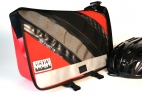 Red, Charcoal and Bike tubes Medi Messenger Bag