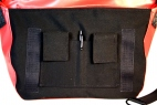 Charcoal and Bike tubes Medi Messenger Bag